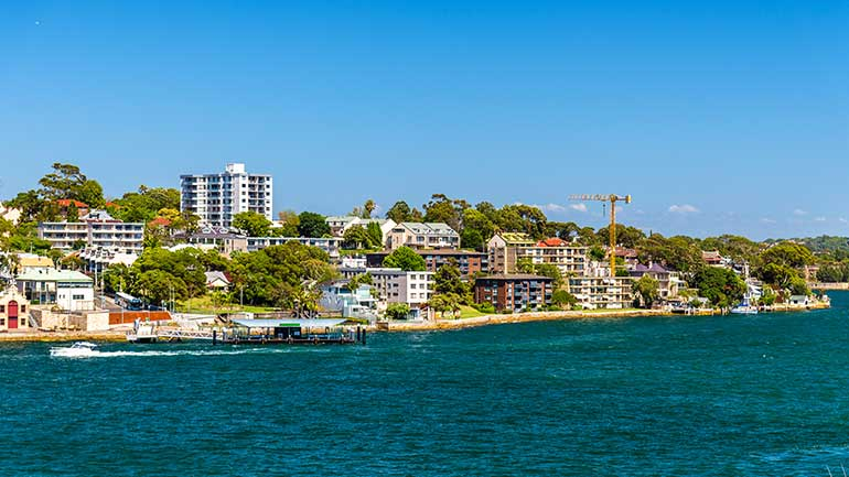 View of Sydney's Inner West from the water