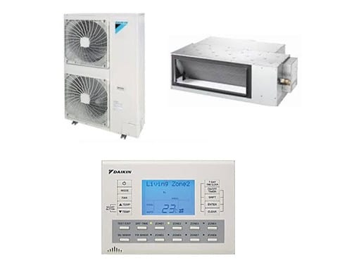 Components of a Daikin Ducted air conditioning system