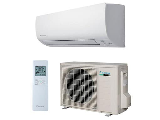 Components of a Daikin split system air conditioning system