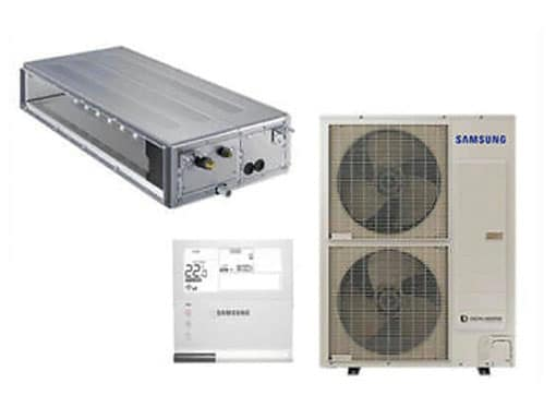 Components of a Samsung ducted air conditioning system