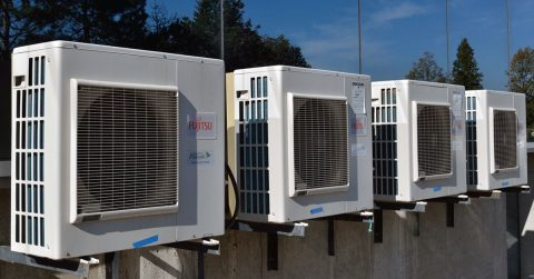 Split Unit Wall Mounted Air Conditioner in a Commercial Property
